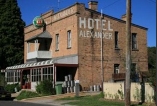 Alexander Hotel Rydal - Accommodation Batemans Bay