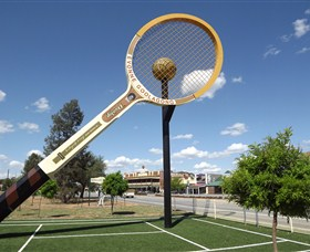 Barellans Big Tennis Racquet - Accommodation Batemans Bay