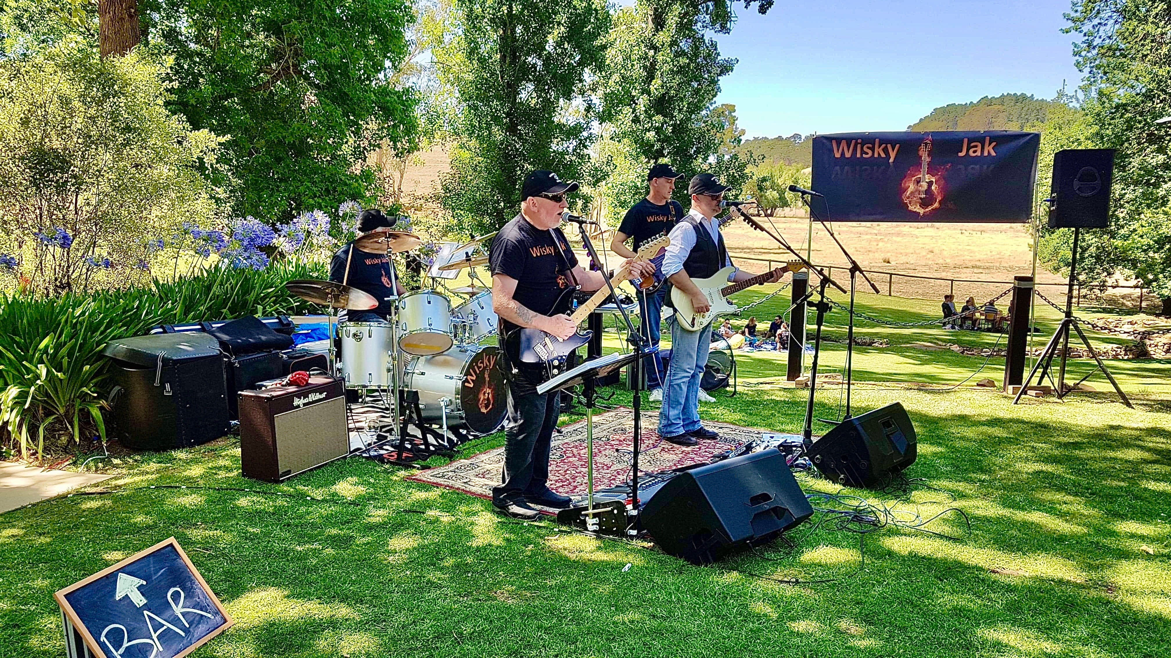 Angas Plains Wines Live in the Vines with the band -Wisky Jak - Accommodation Batemans Bay