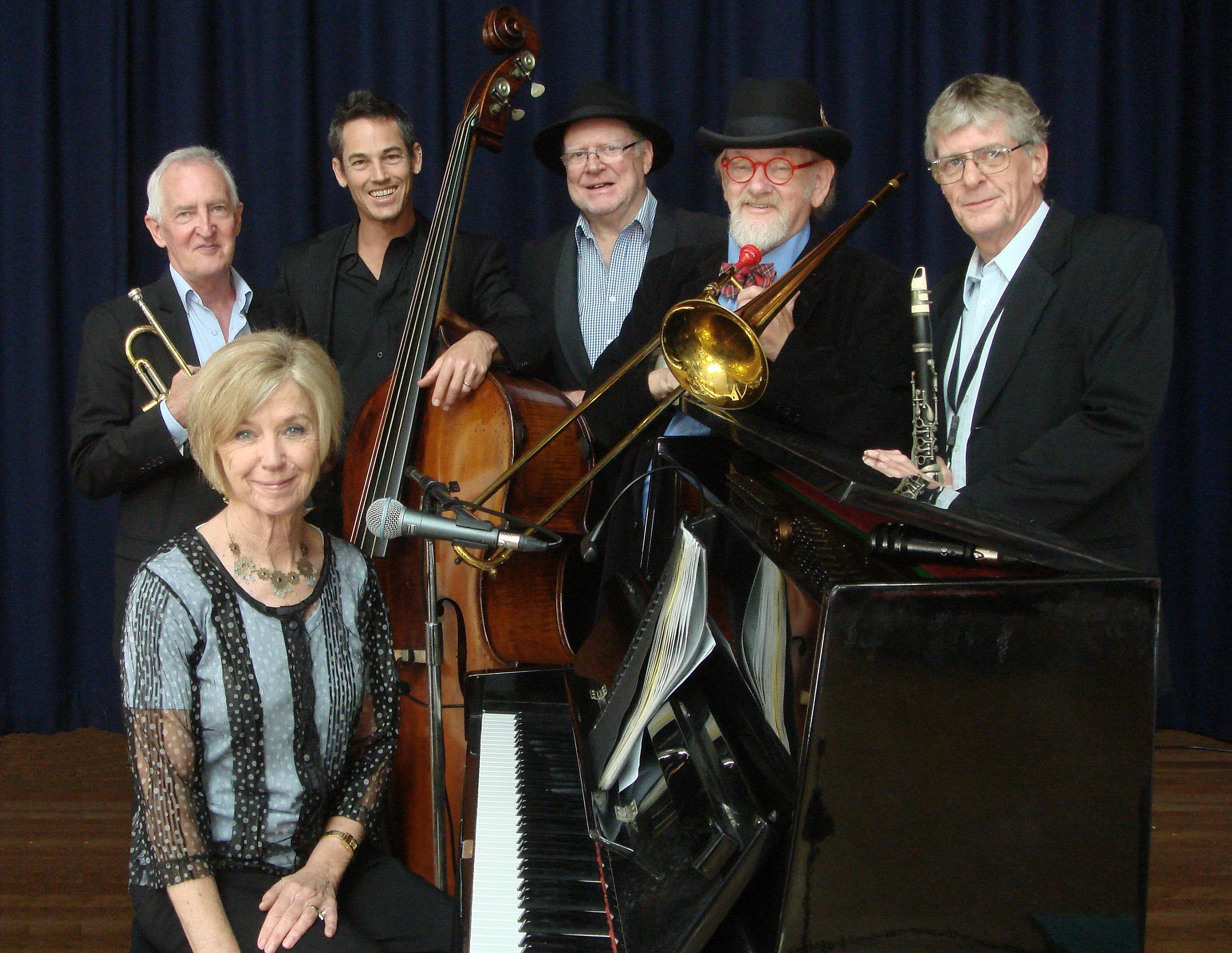 The Caxton Street Jazz Band in the Swigmore Hall at Robert Channon Wines - Accommodation Batemans Bay