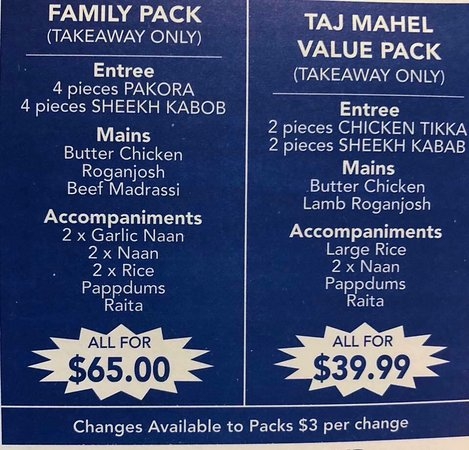 Taj Mahal Indian Restaurant - Accommodation Batemans Bay